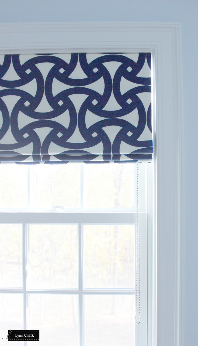 Trina Turk for Schumacher Santorini Print Custom Roman Shades