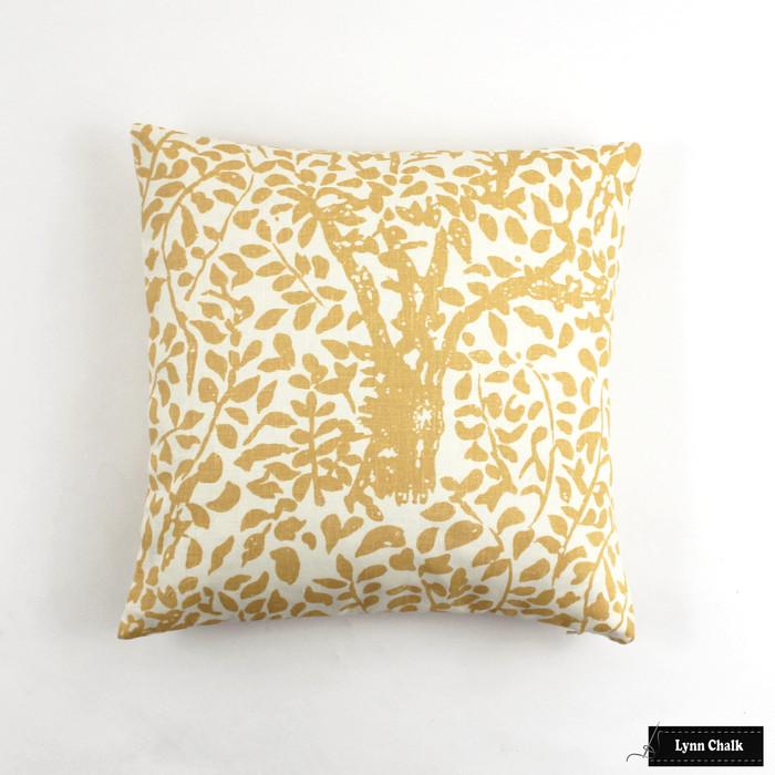 Quadrille Arbre De Matisse Inca Gold Pillow 16 x 16