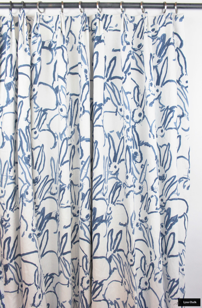 Hunt Slonem for Kravet Hutch Custom Drapes  -(shown in Navy-comes in other colors)