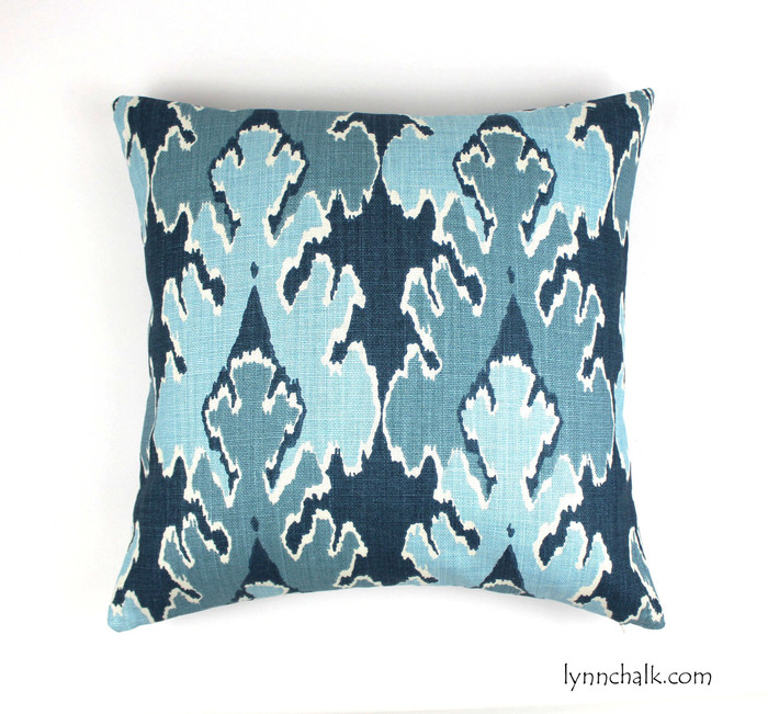 ON SALE Kelly Wearstler Bengal Bazaar in Teal Pillow (Both Sides-20 X 20)
