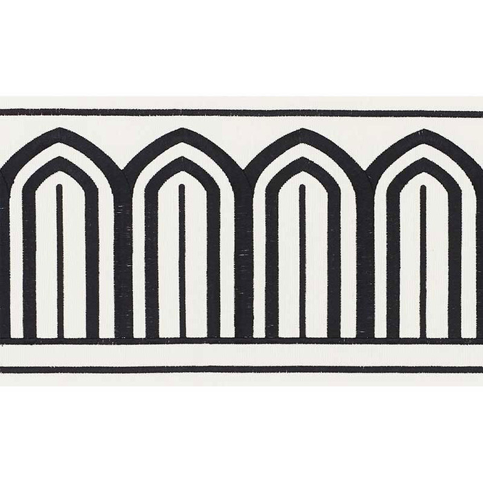 Schumacher Arches Trim Black on White 70770
