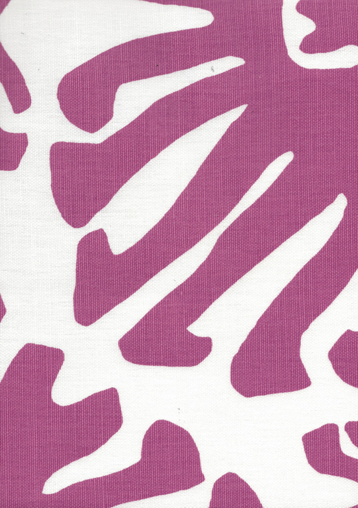 Quadrille Sigourney Large Scale Fabric Lilac on White 2470 07
