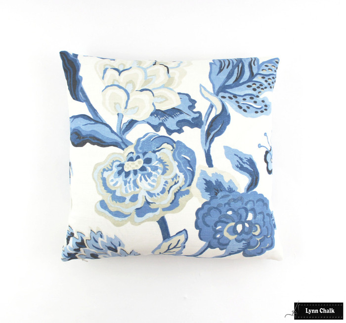 Pillows 18 X 18 Navesink Blue and White