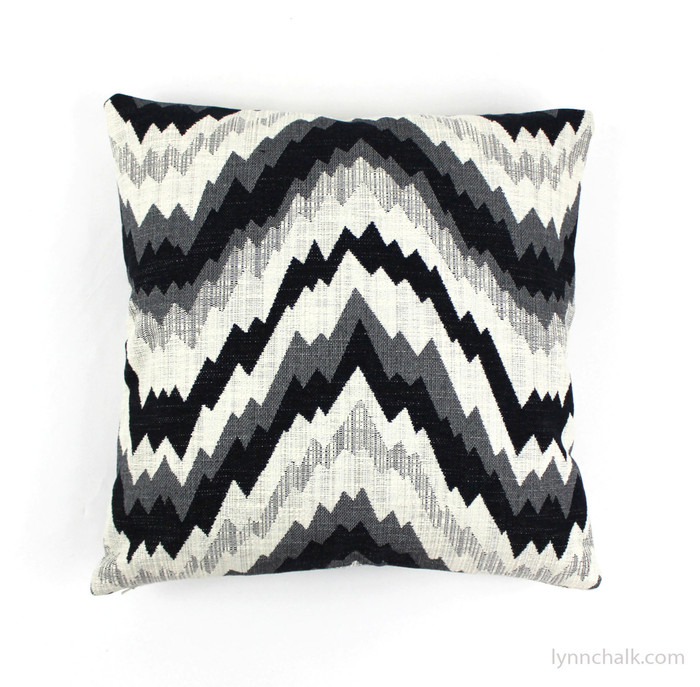 ON SALE 50% Off Kelly Wearstler Flair Noir Pillow Covers (Front Only-Made To Order 18 X 18 or 20 X 20 - Please Specify)