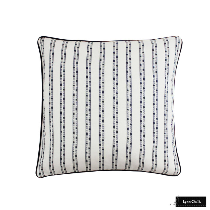 Pillow in Schumacher Ludo Piano Forte with Black Welting