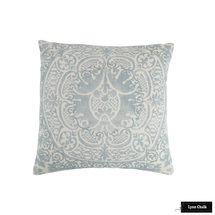 Quadrille Veneto Soft Windsor Blue on Tint Pillow (16 X 16)