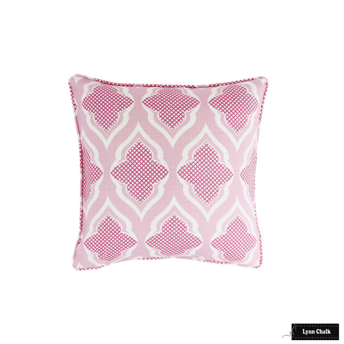 Pillow with self welting in Venecia Hot Pink (18 X 18)