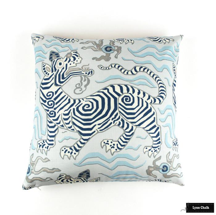 Custom Pillow in Tibet Pale Blue (22 X 22)