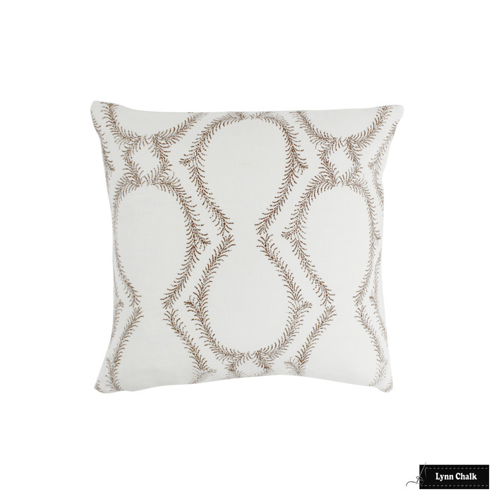 ON SALE 55% Off -John Robshaw Aerial Custom Pillows in Clay (Both Sides-18 X 18)