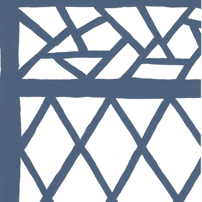 Quadrille Trellis Background Navy on White 6025W-10WWP
