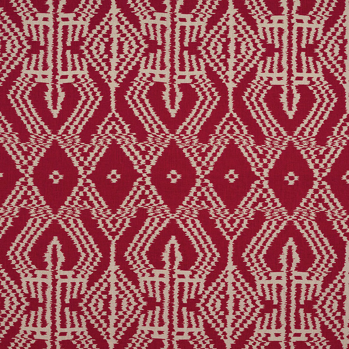 Schumacher Asaka Ikat in Red 176090