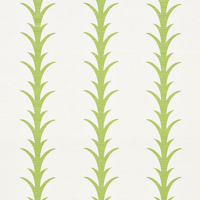 Schumacher Fabric Acanthus Stripe Leaf 177631