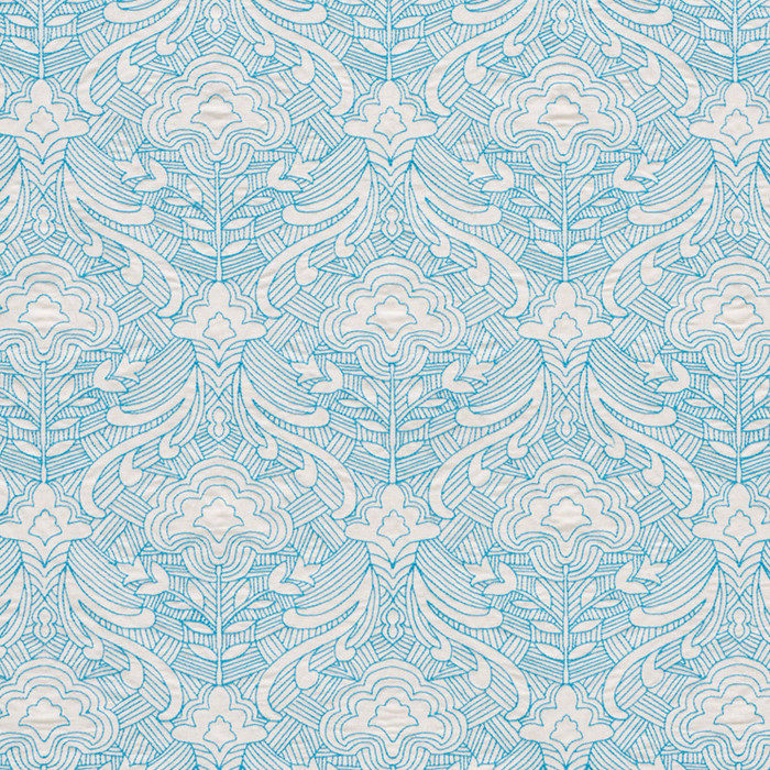 Schumacher Hendrix Embroidery in Blue 76160