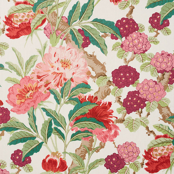 Schumacher Enchanted Garden in Fuchsia 177392