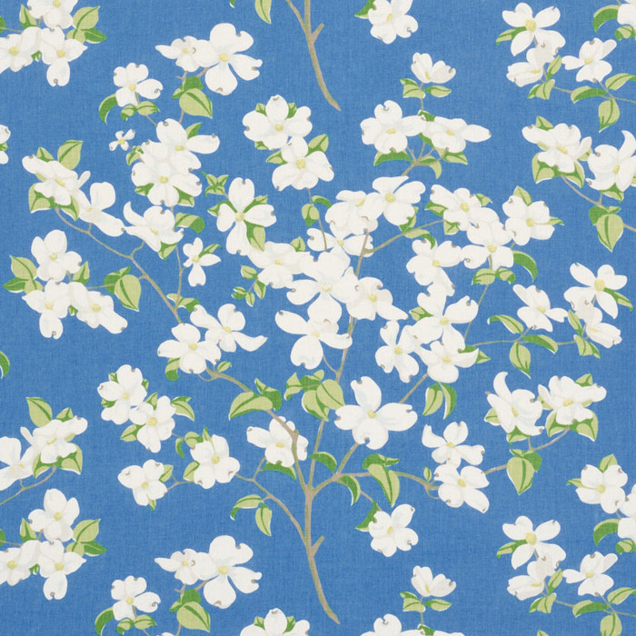 Schumacher Blooming Branch in Blue 177411
