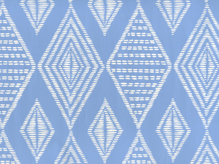 Quadrille Safari Wallpaper French Blue on Almost White Paper AP855-05