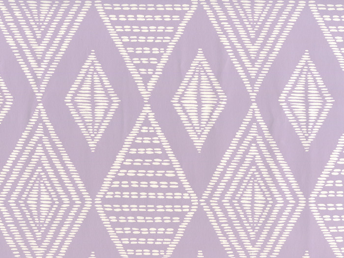 Quadrille Safari Wallpaper Soft Lavender on Almost White Paper AP855-04
