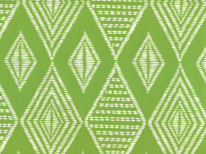 Quadrille Safari Wallpaper Lime on Almost White AP855-15