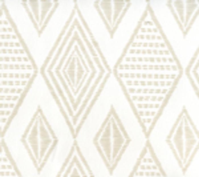 Quadrille Wallpaper Safari Embroidery Pumice on White AP850-PUMICE