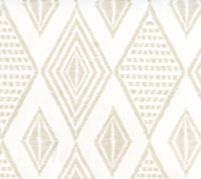 Quadrille Wallpaper Safari Embroidery Pumice on White AP850-PUMICE