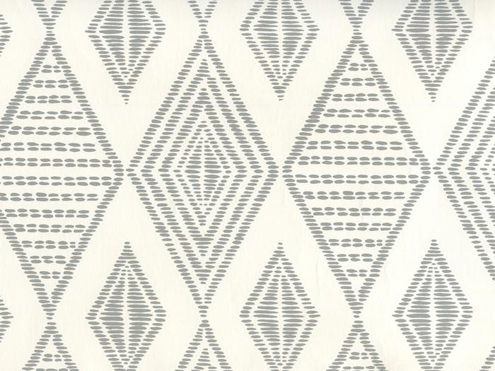 Quadrille Wallpaper Safari Embroidery Medium Gray on Almost White AP850-07