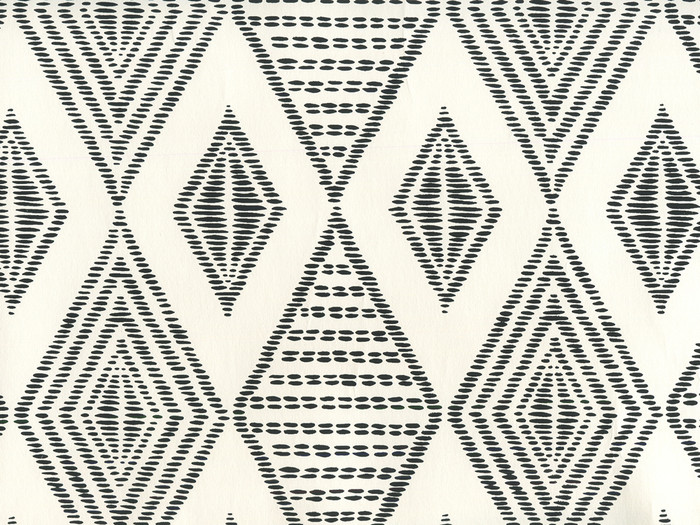 Quadrille Wallpaper Safari Embroidery Black on Almost White AP850-11