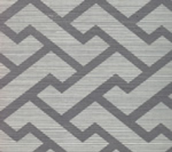 Quadrille Aga Wallpaper Silver on Silver Grasscloth 6340R-SILVER