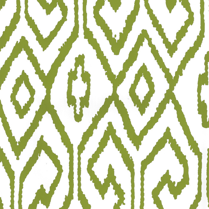 Quadrille Aqua IV Wallpaper Jungle Green on White 7240-03WP