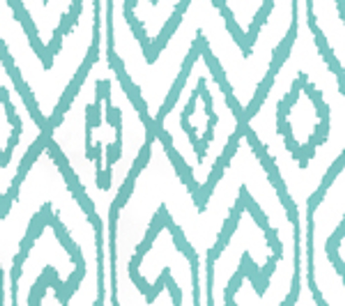 Quadrille Aqua IV Wallpaper Turquoise on White 7240-04WP