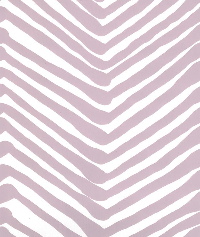Quadrille Zig Zag Wallpaper Lavender on White AP302-33