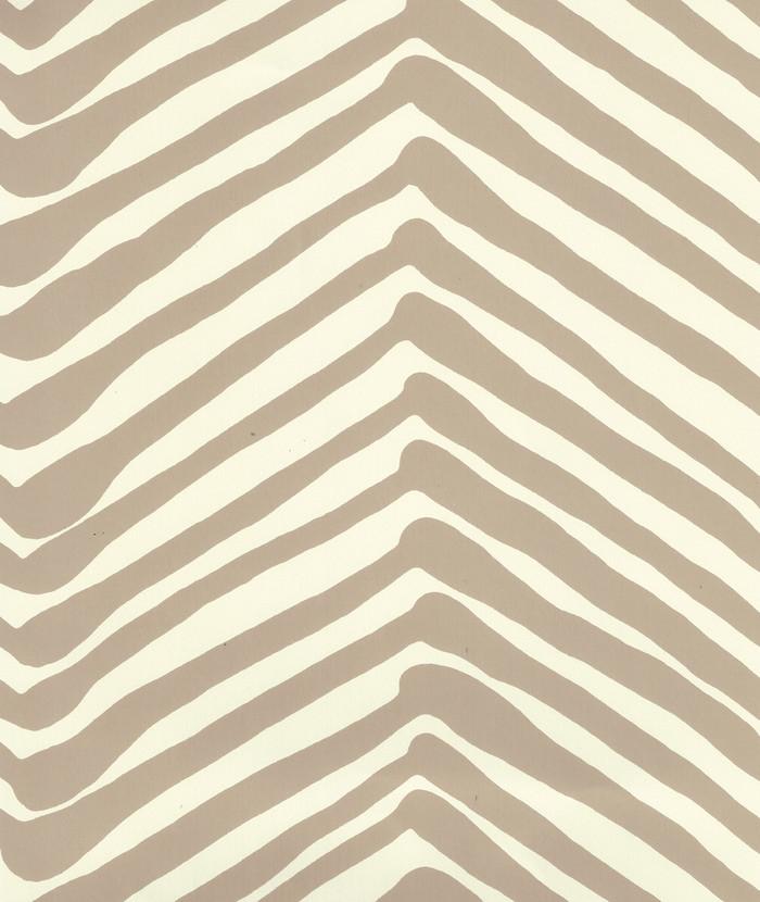 Quadrille Zig Zag Wallpaper Taupe on Off White AP302-11