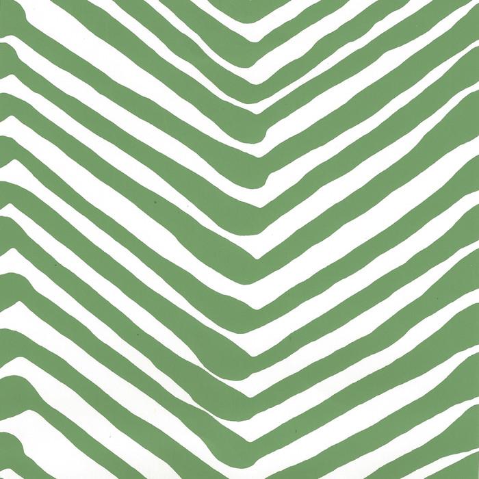 Quadrille Zig Zag Wallpaper Leaf on Almost White AP302-14AWP