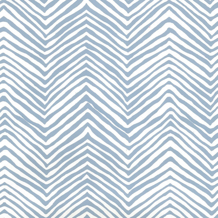 Quadrille Petite Zig Zag Wallpaper Slate Blue on Almost White AP303-09