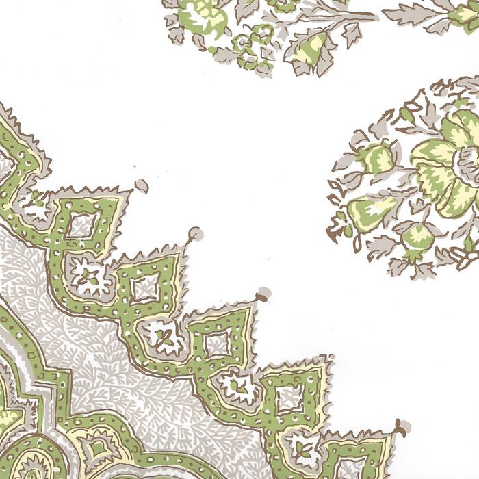 Quadrille Persepolis Wallpaper Fig Cream on White Vinyl HC1490W-02WPV