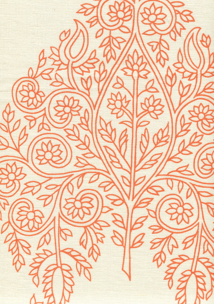 Quadrille Taj Wallpaper Melon on Off White HC1480P-06WP