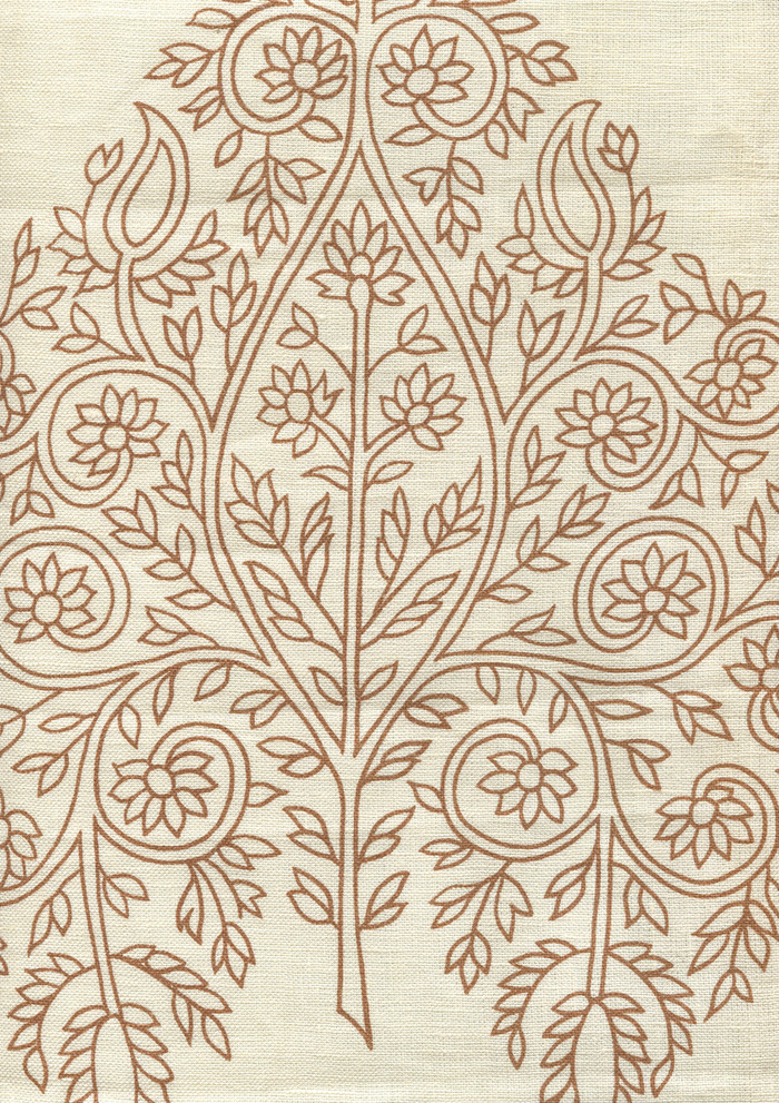 Quadrille Taj Wallpaper New Tobacco on Off White HC1480P-02WP