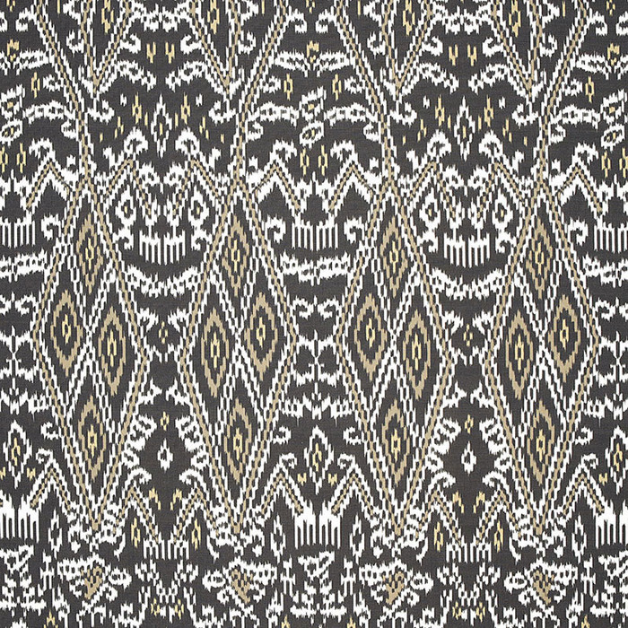 Schumacher Maya Ikat Print Ash 174750