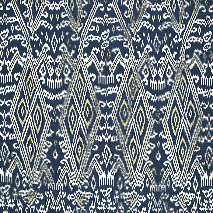 Schumacher Maya Ikat Print Indigo 174752