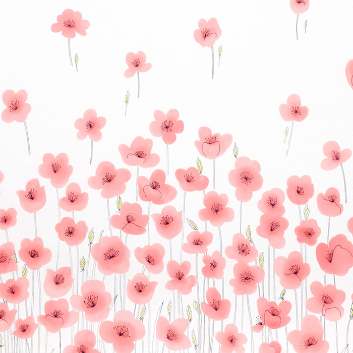 Schumacher Wild Poppies Pink 178391