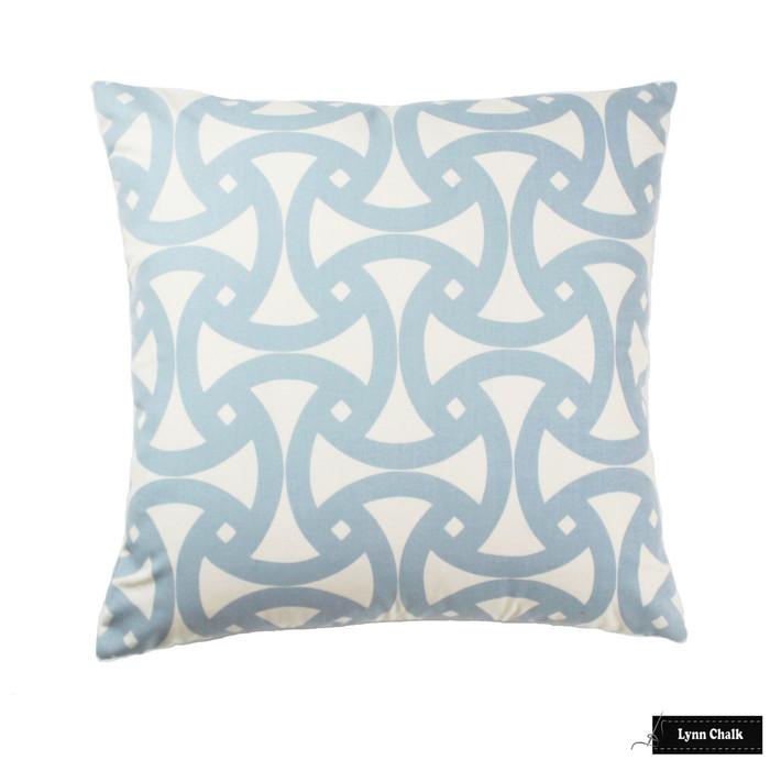 Schumacher Trina Turk Santorini Sky Blue Pillow (26 X 26)