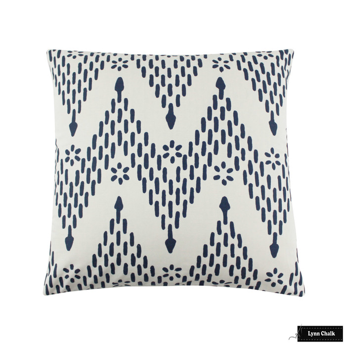 Sister Parish Kismet Indigo Pillow 24 X 24