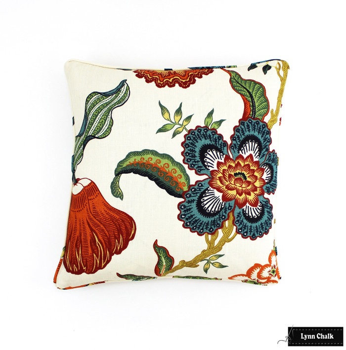 ON SALE 50% Off-Schumacher Celerie Kemble Hothouse Flowers Pillow in Spark with Self Welting/Piping  (Front Only) Made To Order