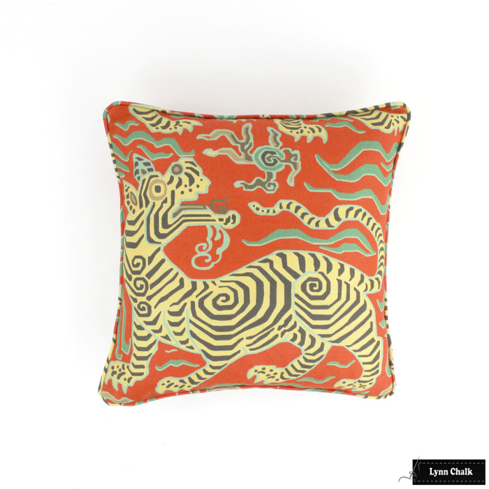 Custom Pillow in Tibet Cinnabar with Self Welting (18 X 18)