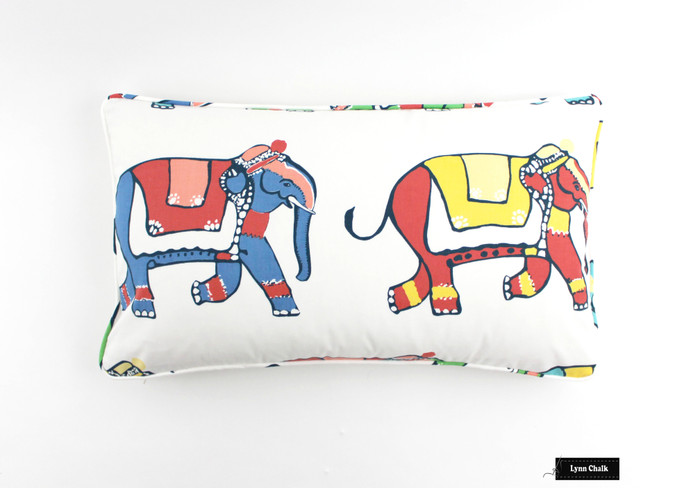 Pillow in Parade in Multi with self welting (12 X 24)