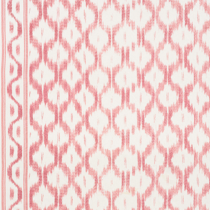 Schumacher Santa Monica Ikat Faded Red 176503