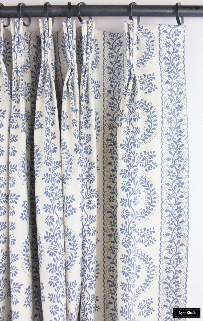 Drapes in Sister Parish Dolly Blue SPF-2000-2 Cotton