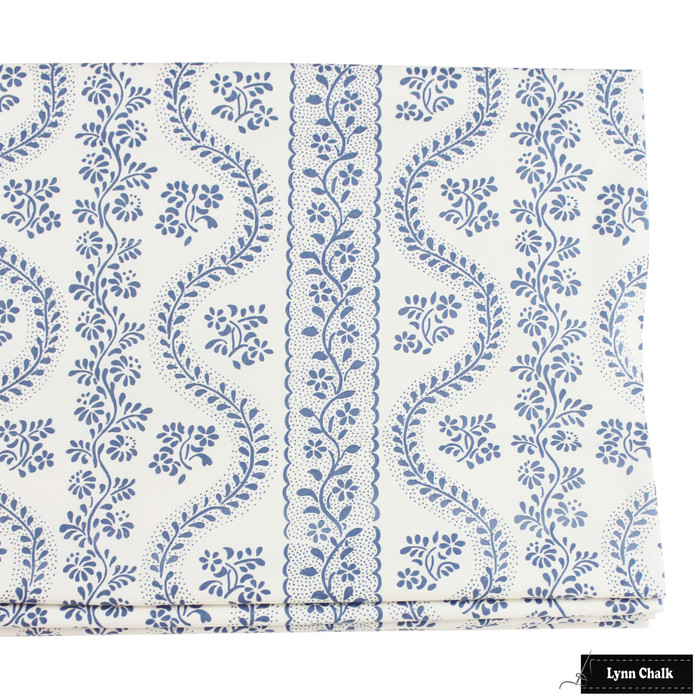 Roman Shade in Sister Parish Dolly Blue SPF-2000-2 Cotton