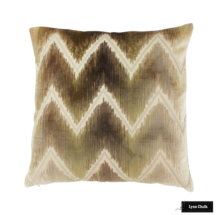 Schumacher Shock Wave Pillow (shown in Sand & Sable  54861) 2 Pillow Minimum Order