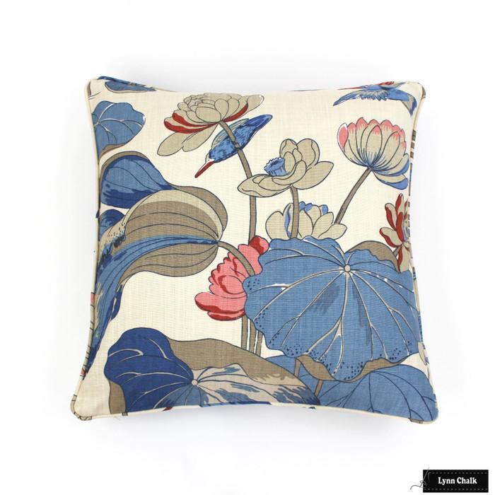 Pillow in Nympheus Indigo/Marine (22 X 22)