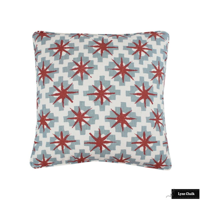 Peter Dunham Starburst Pillow (shown in Blue Red 111STB03-comes in other colors)